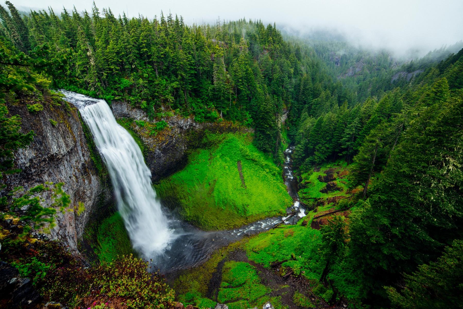 Up Hills Mountain Waterfall