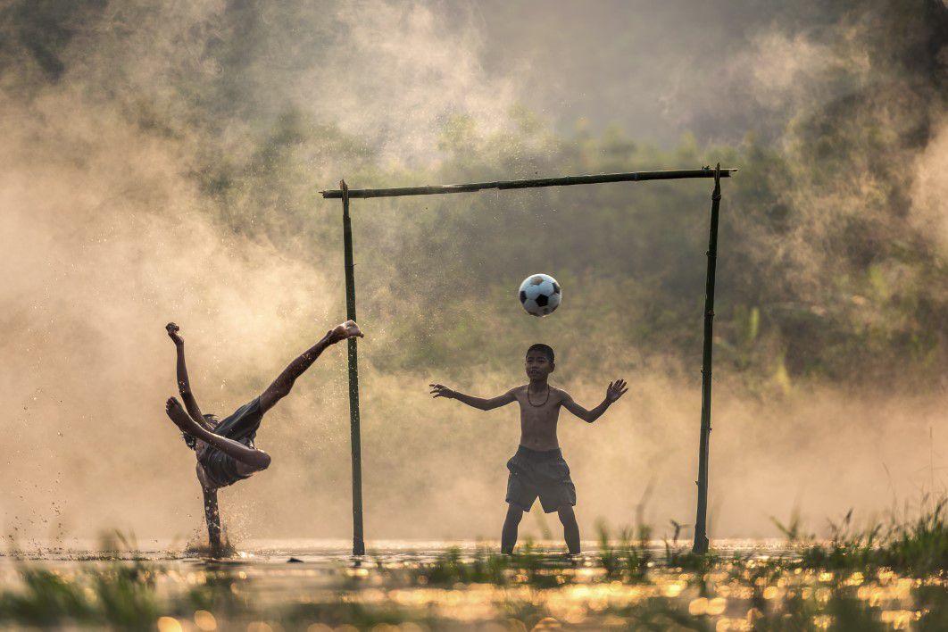 How Village Kids Play Football