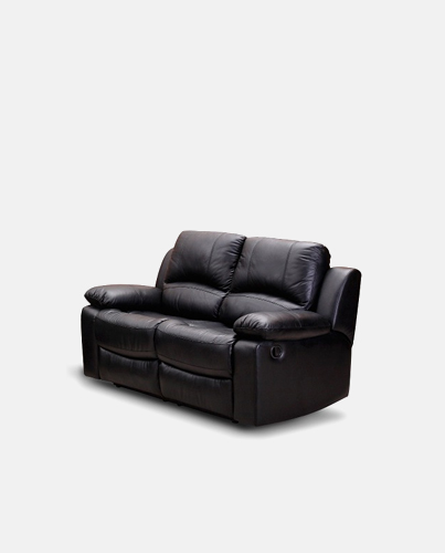 Leather Black Sofa Set