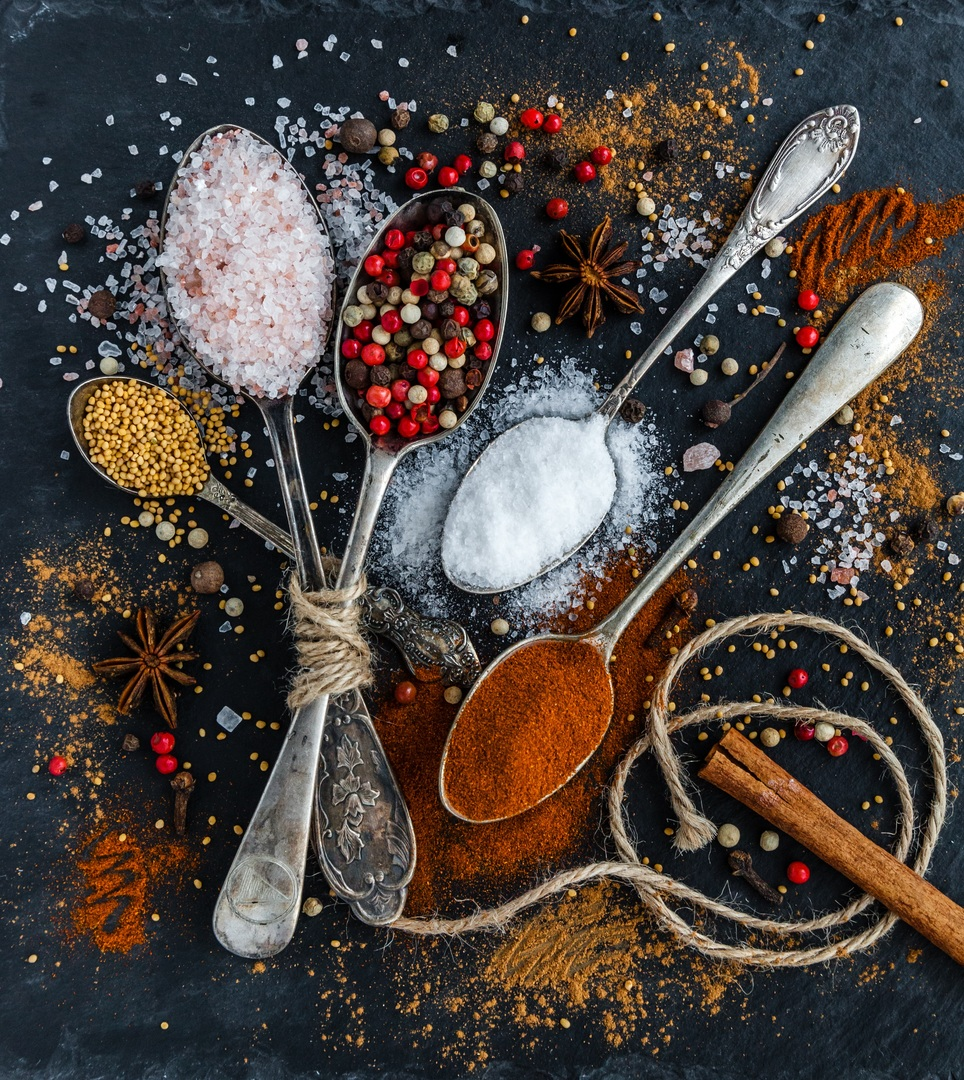 Spice mixes are blended spices or herbs.